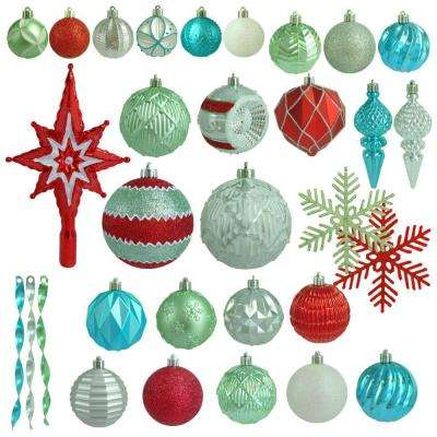 christmas morning shatter resistant ornament - Teal Christmas Ornaments