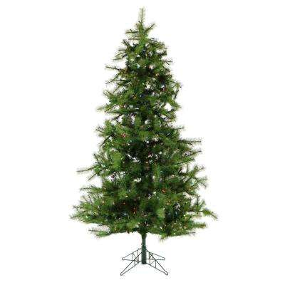 12 ft. Pre-Lit LED Southern Peace Pine Artificial Christmas Tree with 1950 Multi-Color String Lights