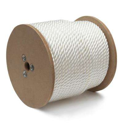 3/4 in. x 150 ft. Nylon Twisted Rope, White