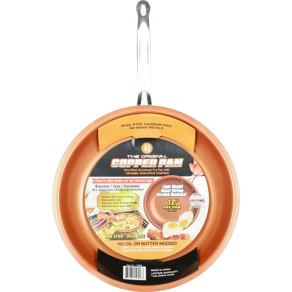 The Original Copper Pan 12 in. Copper Non-Stick Round Fry Pan