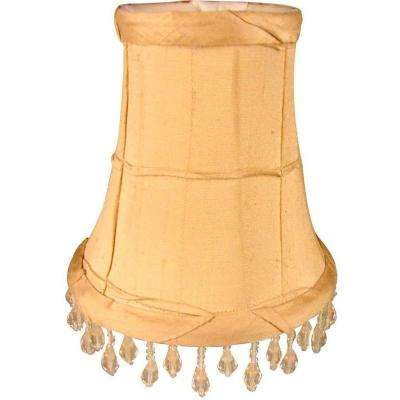 Stretch Bell Sand Dupione Silk Chandelier Shade with Ruffles and Beads