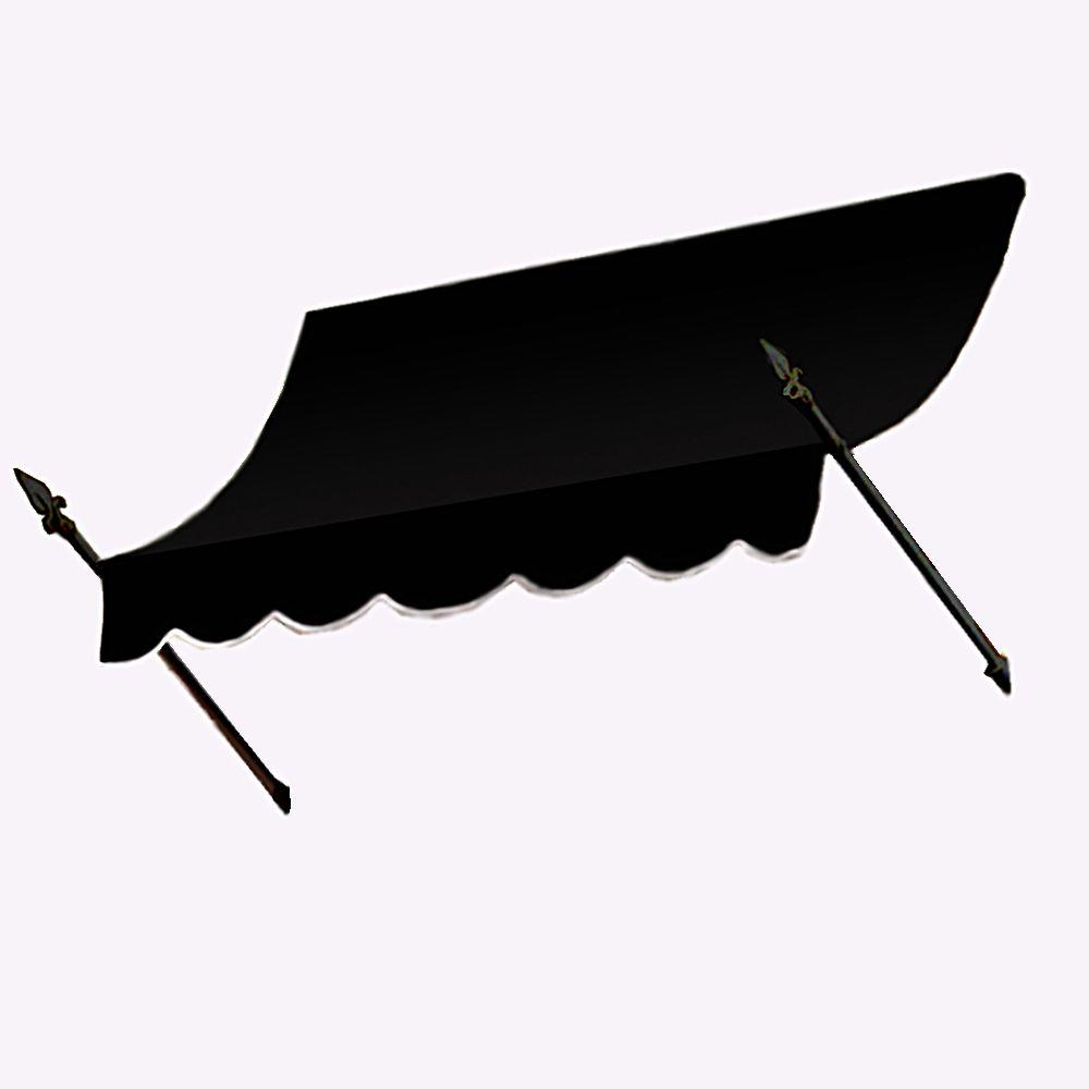 AWNTECH 12 ft. New Orleans Awning (44 in. H x 24 in. D) in Black