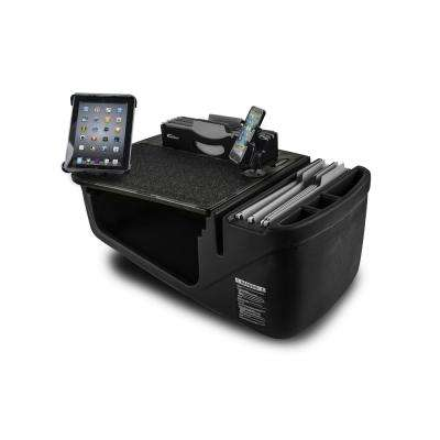 Efficiency FileMaster Green Camouflage Car Desk with Built-in Power Inverter, X-Grip Phone Mount and Tablet Mount