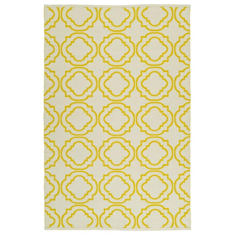 Brisa Yellow 8 ft. x 10 ft. Indoor/Outdoor Reversible Area Rug
