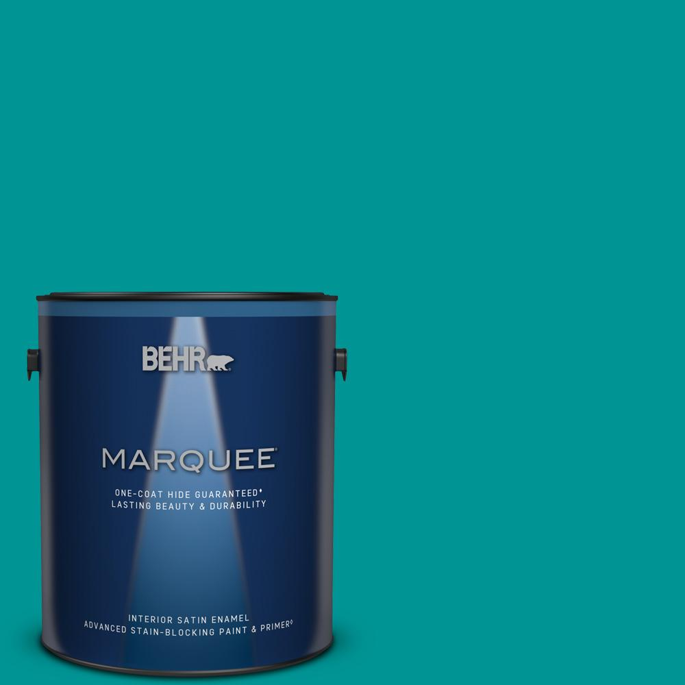 BEHR MARQUEE 1 gal. #P460-6 Paradise Landscape Satin Enamel Interior Paint and Primer in One