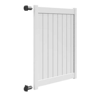 Bryce and Washington Series 5 ft. W x 6 ft. H White Vinyl Un-Assembled Fence Gate
