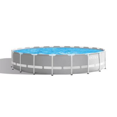 Prism 20 ft. x 52 in. Round Frame Above Ground Swimming Pool with Filter Pump