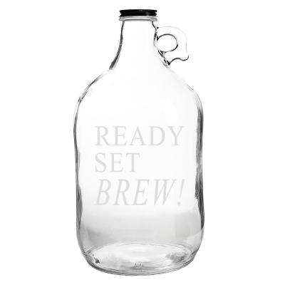 Ready Set Brew 64 oz. Clear Glass Growler