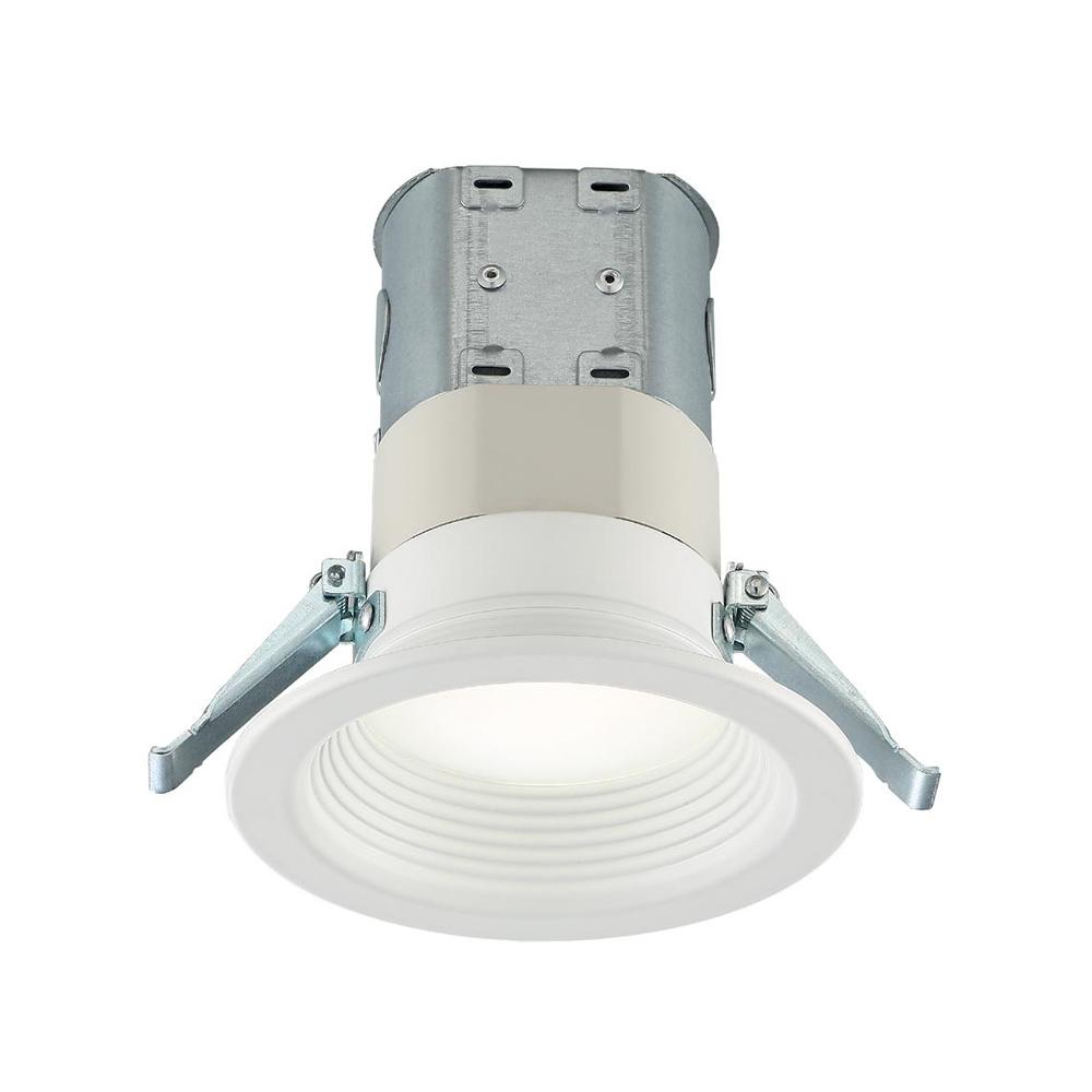 Commercial Electric Easy-Up 4 in. Deep Baffle Color Selectable Canless LED Recessed Kit
