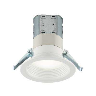 Easy-Up 4 in. Deep Baffle Color Selectable Canless LED Recessed Kit