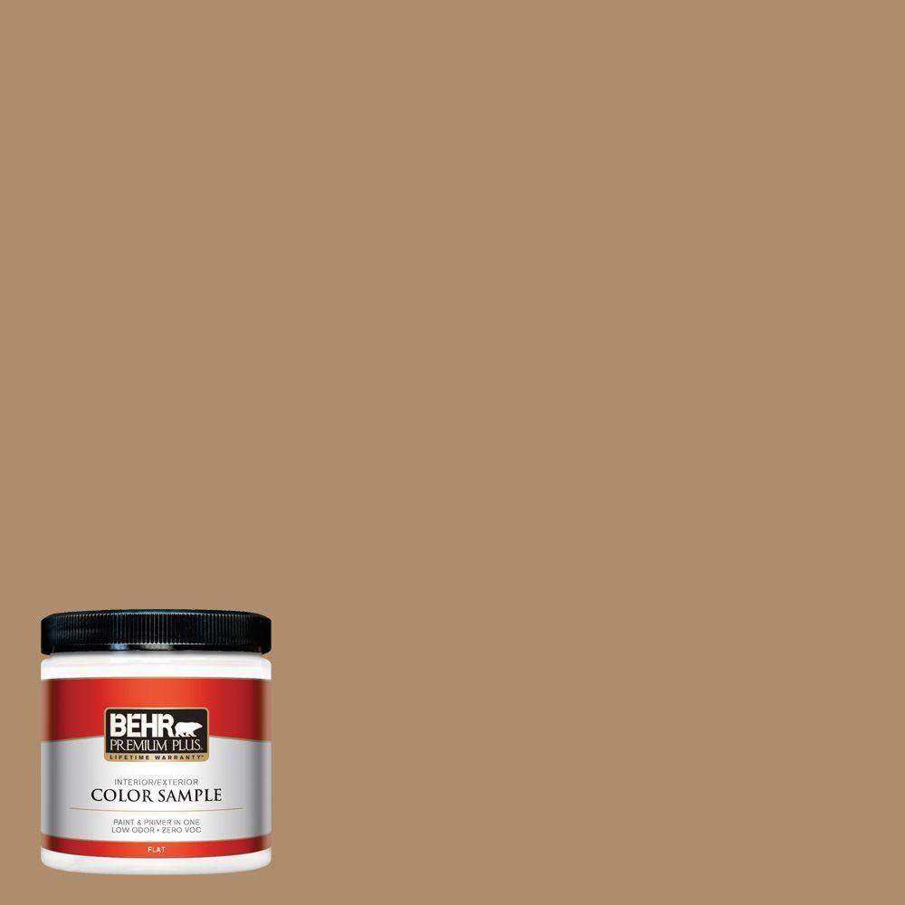 BEHR Premium Plus 8 oz. #N270-5 River Road Interior/Exterior Paint Sample