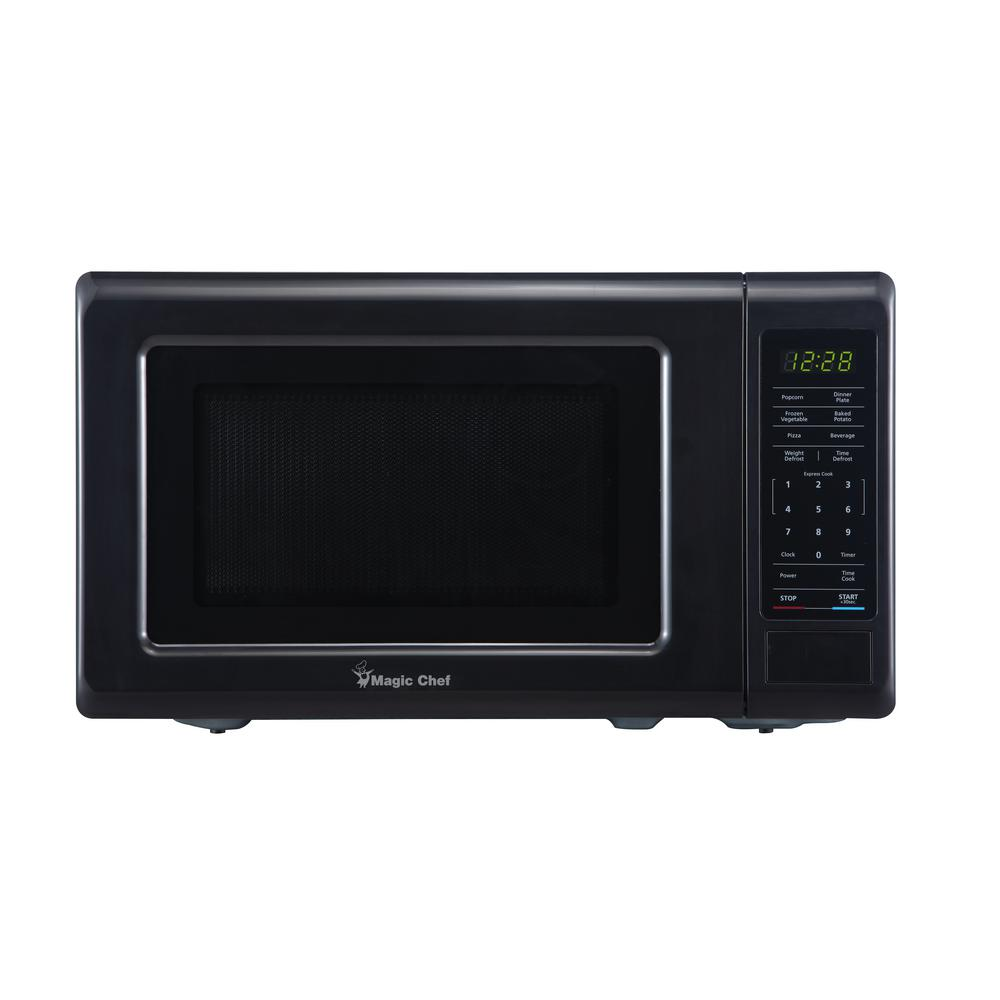 Ge 0 7 Cu Ft Small Countertop Microwave In Black