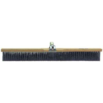 30 in. Black Nylon Concrete Finish Broom-Wood Block