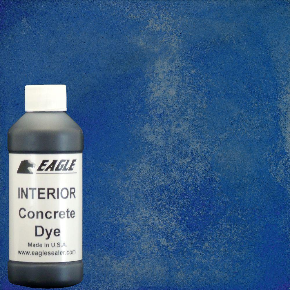 Eagle 1 gal. Blue Poppy Interior Concrete Dye Stain Makes with Water from 8 oz. Concentrate