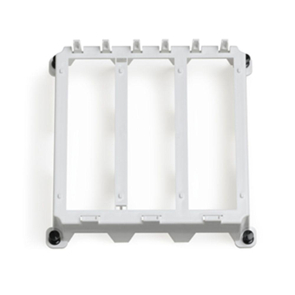 Leviton Structured Media 3-Single Bay Half Width Bracket