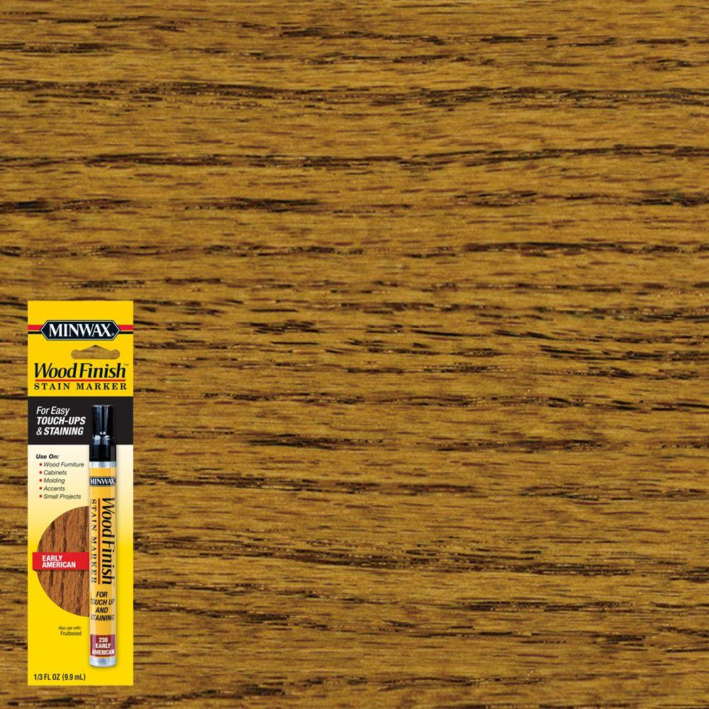 Minwax 1 3 Oz Wood Finish Early American Stain Marker 8