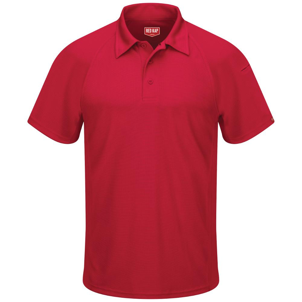 610e504ac6a2d Red Kap Men s Size 4XL Red Active Performance Polo-SK92RD SS 4XL ...