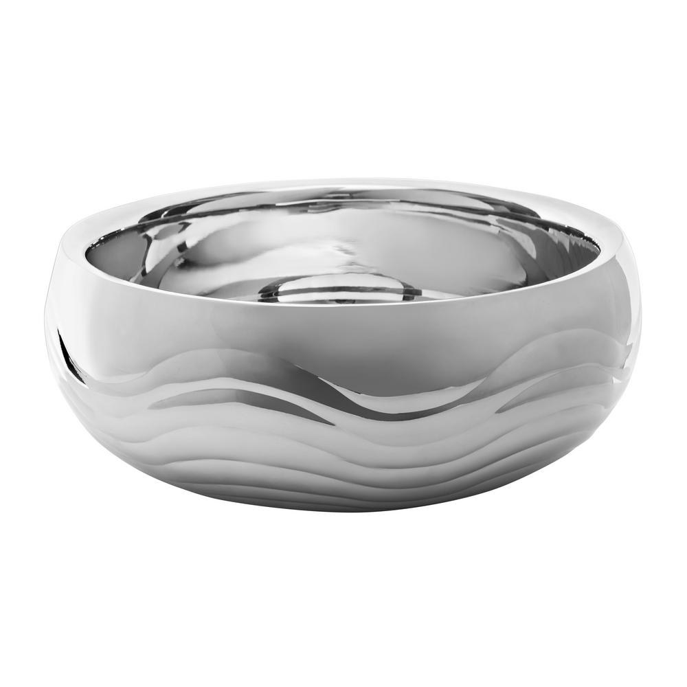 11 in. Stainless Steel Doublewall Ripple Design Bowl