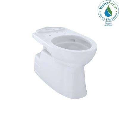 Vespin II Elongated Toilet Bowl Only with CeFiONtect in Cotton White