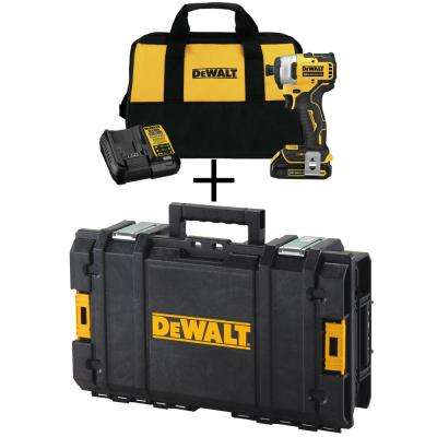 ATOMIC 20-Volt MAX Lithium-Ion Brushless Cordless 1/4 in. Impact Driver Kit with Bonus ToughSystem Case