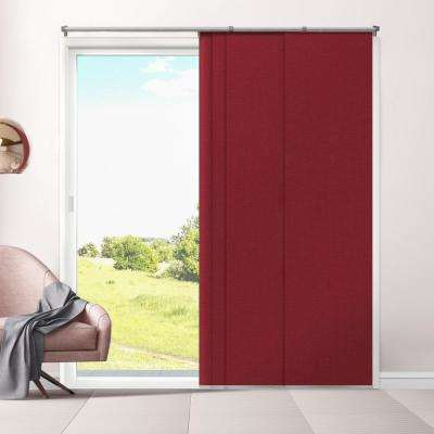 Cut-to-Length Eclipse Cordless Ruby Polyester Panel - 80 in. W x 96 in. L