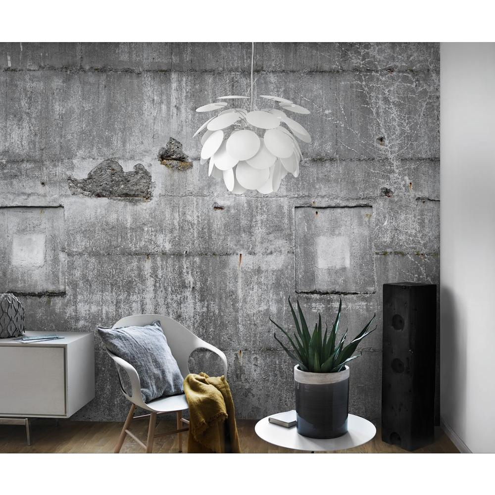 Washington Wallcoverings 120 in. H x 146 in. W Distressed Multi Colored Faux Concrete Wall Mural