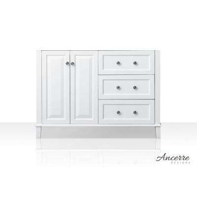Hannah 47 in. W x 21 in. D Vanity Cabinet Only in White