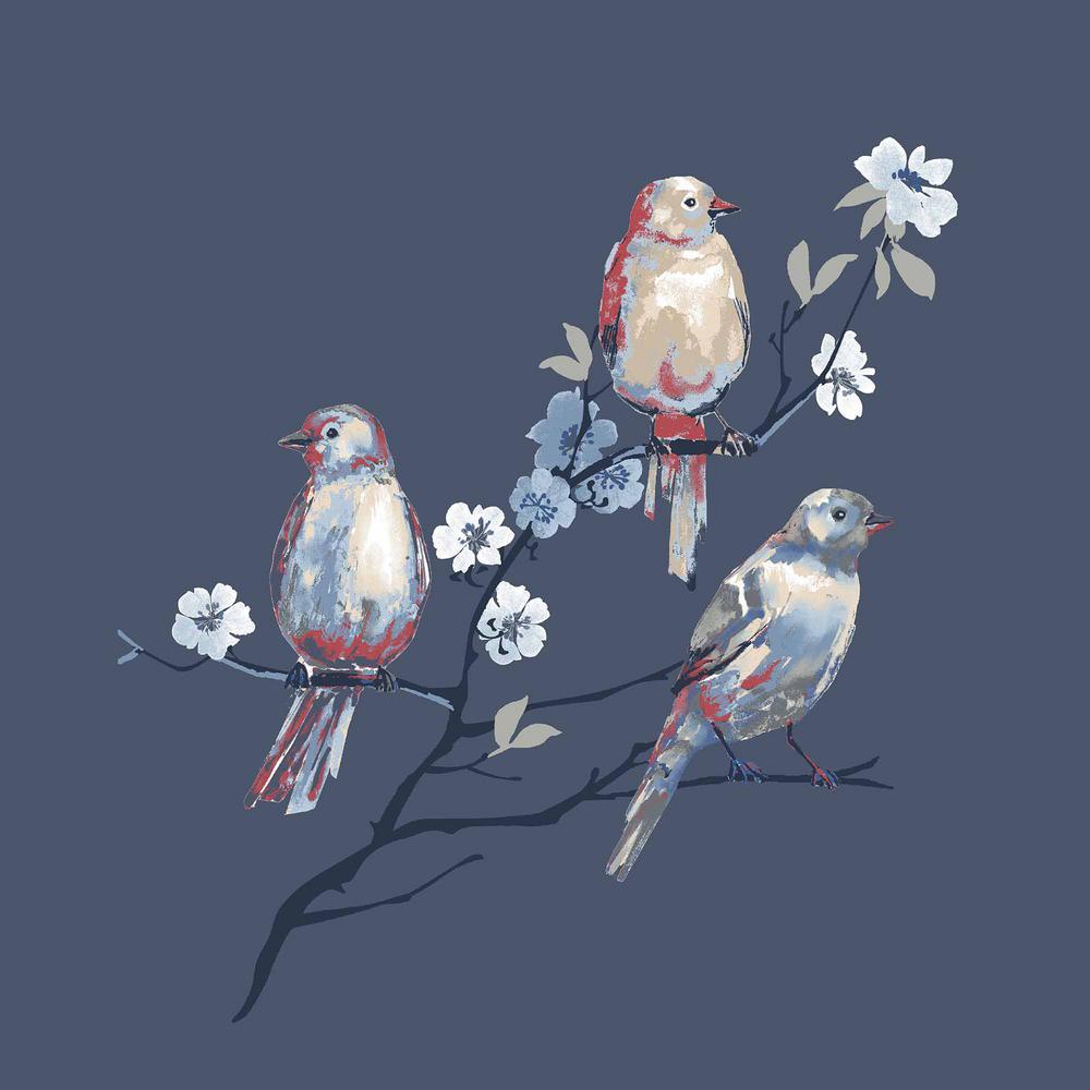 Sky Birds Square Outdoor Throw Pillow