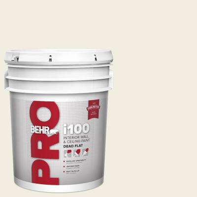 Behr Pro 5 Gal 12 Swiss Coffee Dead Flat Interior Paint Pr10505 The Home Depot