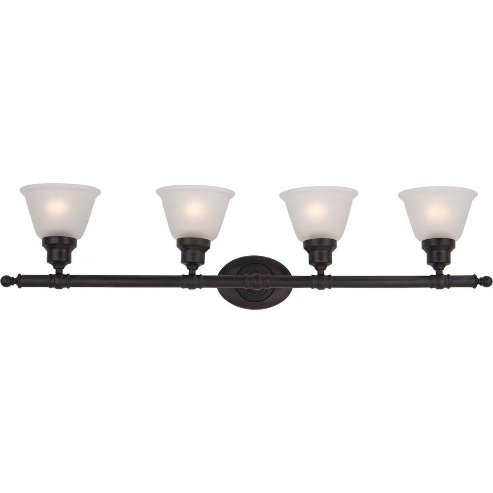 Maxim lighting essentials 4 light oil rubbed bronze bath for Bathroom vanity lights oil rubbed bronze