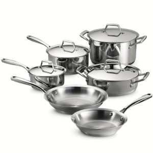 Tramontina Gourmet Prima 10-Piece Stainless Steel Cookware Set with Lids by Tramontina
