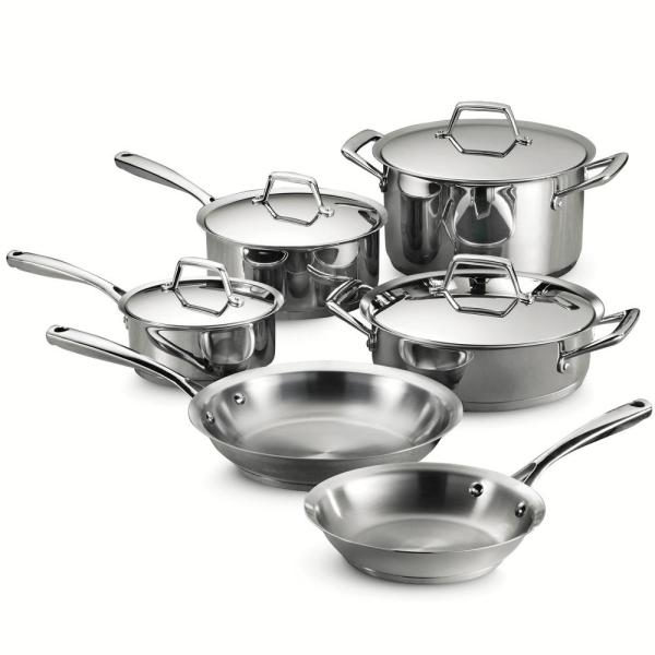 Tramontina Gourmet Prima 10-Piece Stainless Steel Cookware Set with Lids