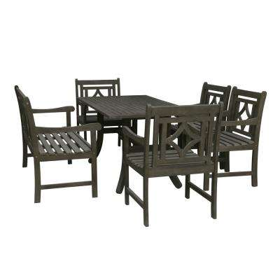 Renaissance 6-Piece Wood Outdoor Dining Set