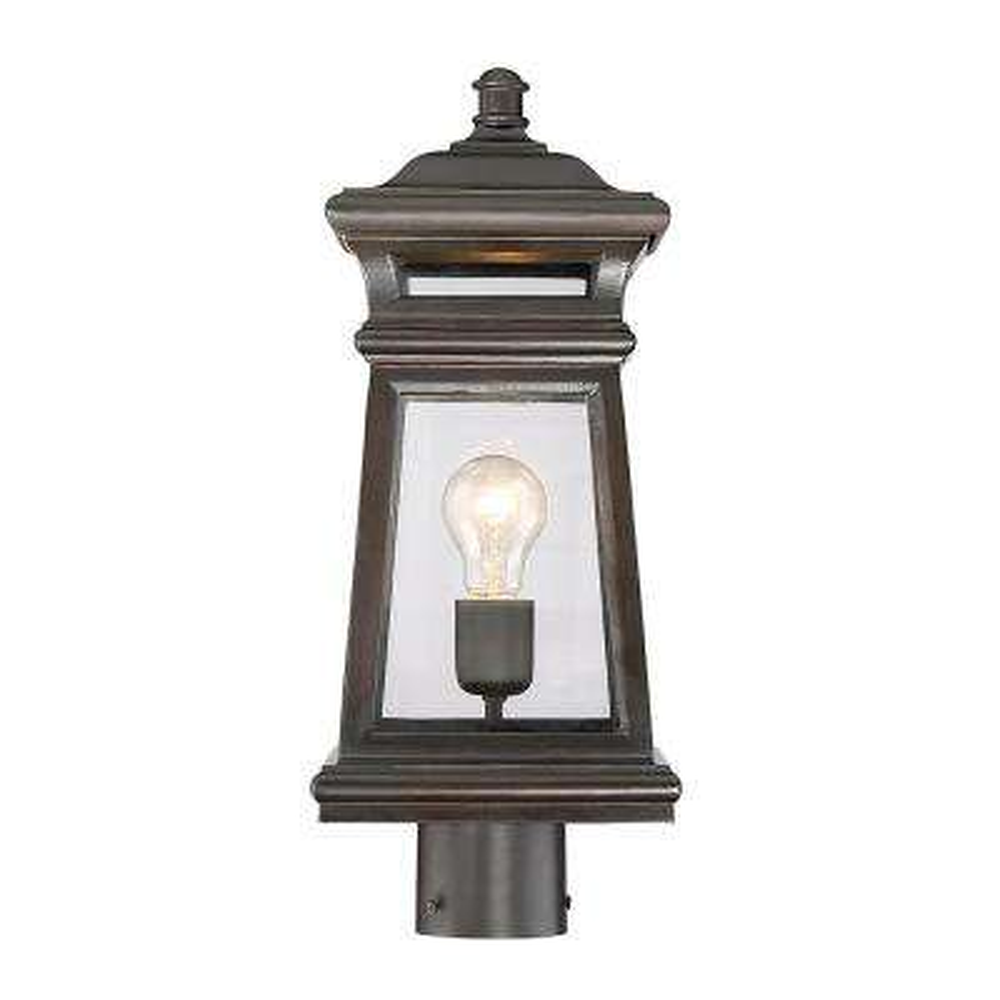 1-Light Outdoor English Bronze Post Light