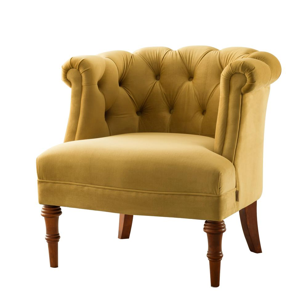 Jennifer taylor katherine gold tufted accent chair