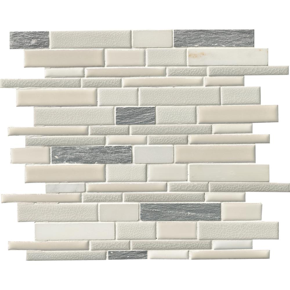 Msi Everest Interlocking 12 In X 8mm Porcelain And Stone Mesh