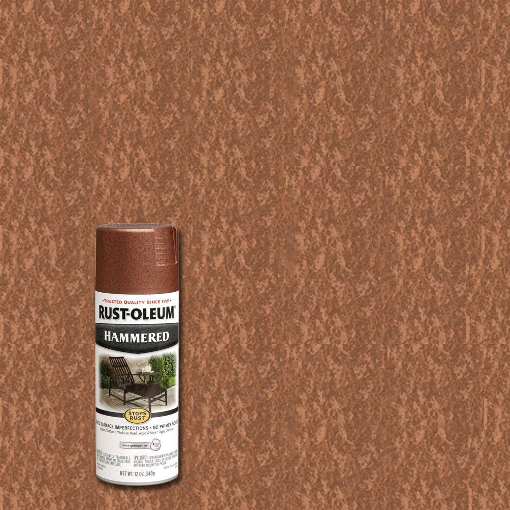 12 oz. Copper Protective Enamel Hammered Spray Paint