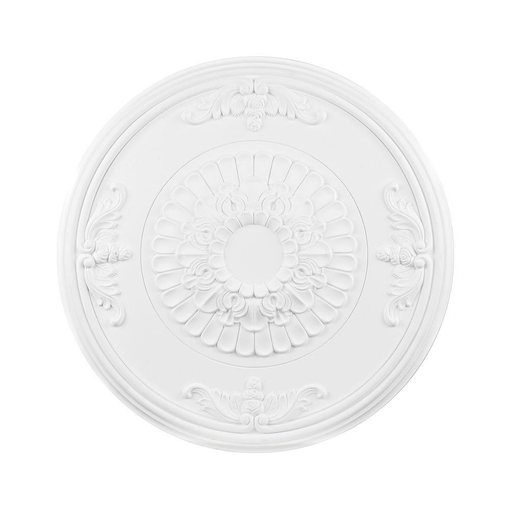 Titan Lighting 27 in. White Ceiling Medallion