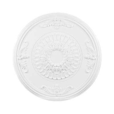 Titan Lighting 27 in. White Ceiling Medallion