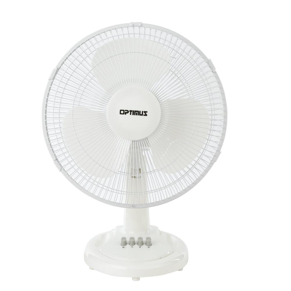 Holmes Blizzard Table Fan Tilt Adjustable Head Oscillating Plastic Housing 10/'/'