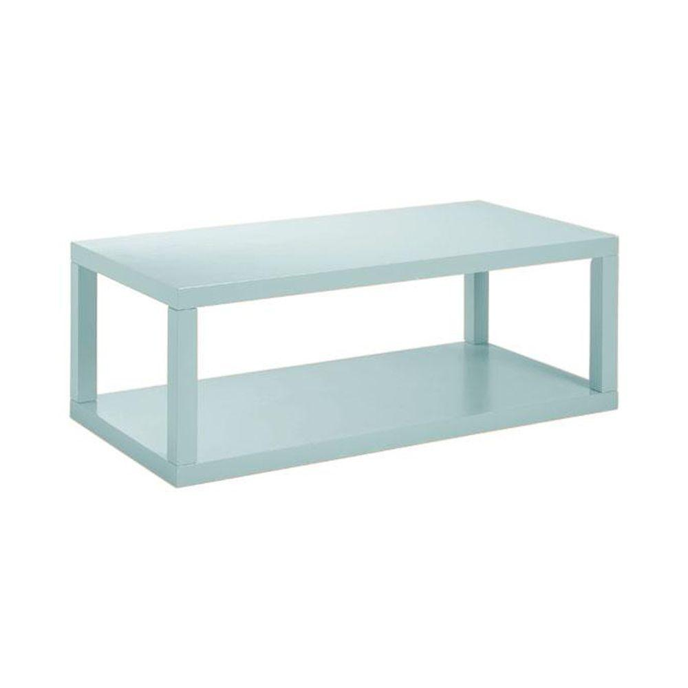 Home Decorators Collection 48 in. W Parsons Blue Coffee Table