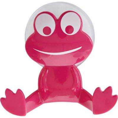 Pink Kids Frog Wall Hook on Suction Pad