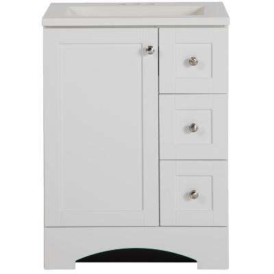 Lancaster 24 in. W x 19 in. D Bath Vanity and Vanity Top in White