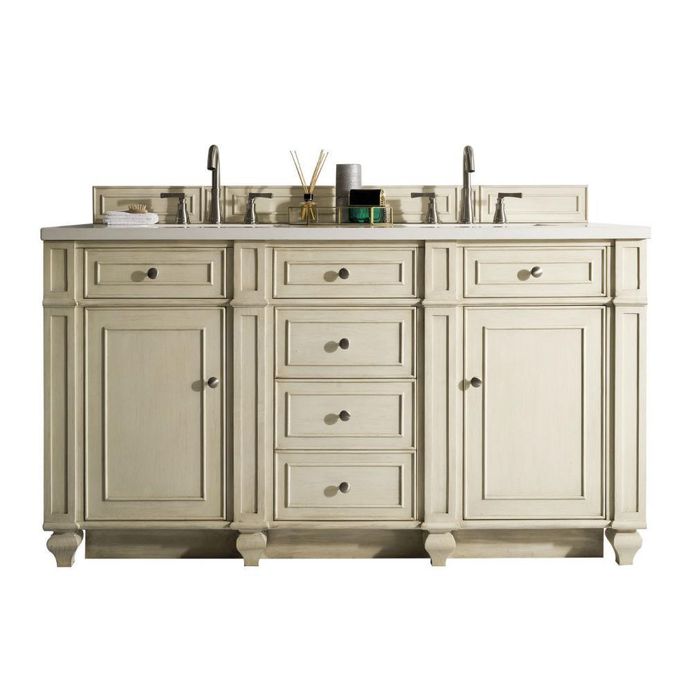 Bristol 60 in. W Double Vanity in Vintage ... - Off-White - Bathroom Vanities - Bath - The Home Depot