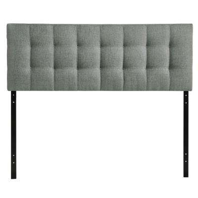Lily Gray Queen Upholstered Fabric Headboard