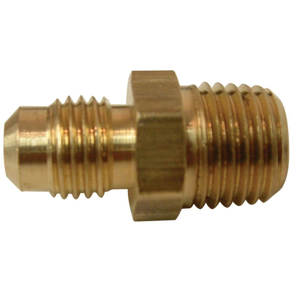 Everbilt 5/8 in. FL x 1/2 in. MIP Lead-Free Brass Flare Union Fitting