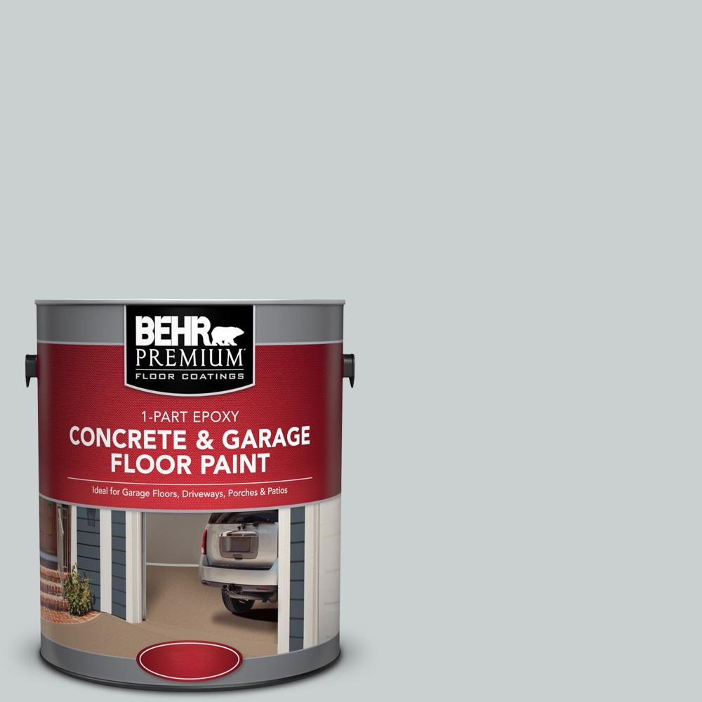 BEHR Premium 1 gal. #PPF-17 Foggy Morn 1-Part Epoxy Satin Interior/Exterior Concrete and Garage Floor Paint