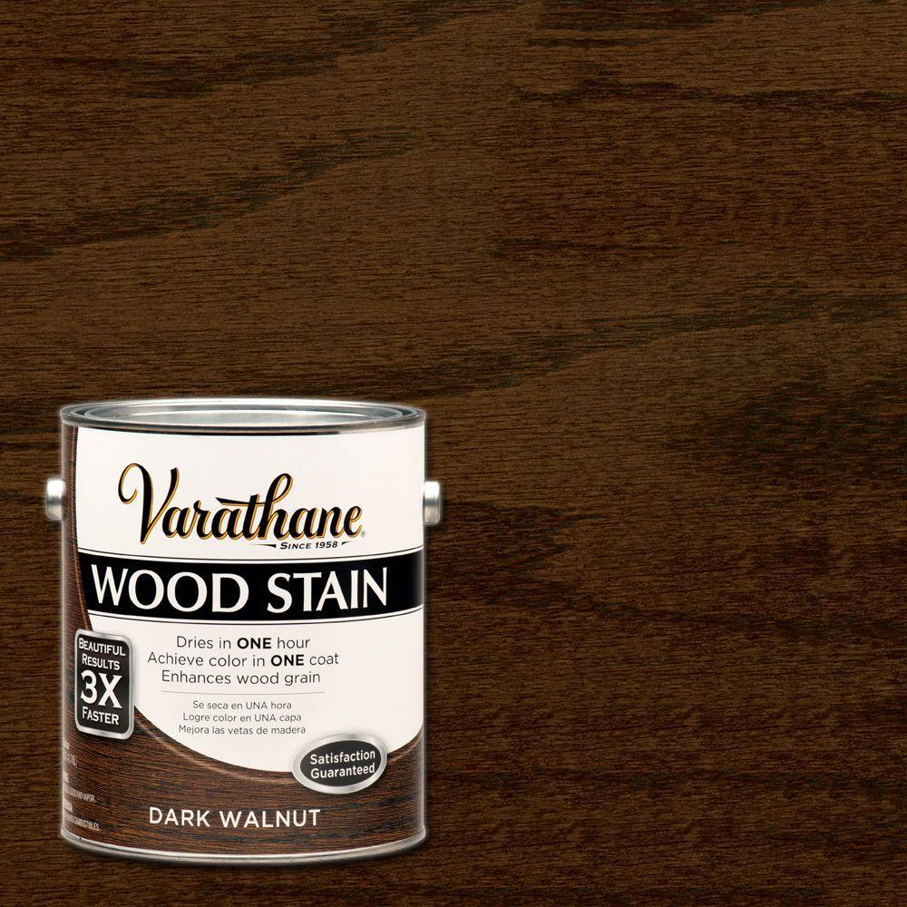 1 gal. Dark Walnut Premium Fast Dry Interior Wood Stain (2-Pack)