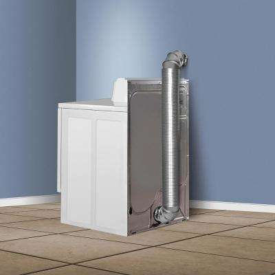 4 in. x 8 ft. All Metal Dryer Vent Hook-Up Kit
