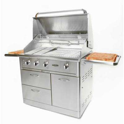 Precision 4-Burner 40 in. Stainless Steel Propane Gas Grill